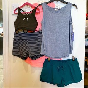 Size S Lot of Tanks & Shorts (various brands)